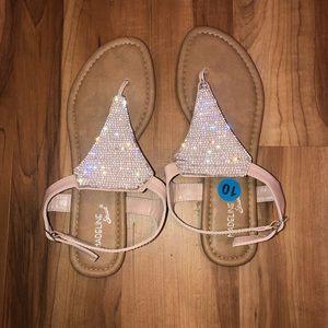 Shoes - Sandals   pink sparkle   size 10